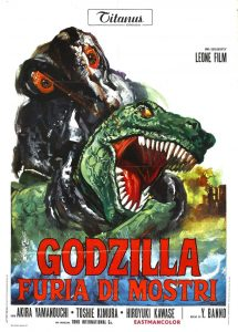 Affiche italienne pour Godzilla vs. Hedorah (Godzilla vs. the Smog Monster), 1971